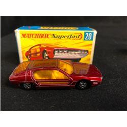 1969 MATCHBOX SUPERFAST MAROON LAMBORGHINI MARZAL CAR #20