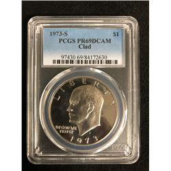 1973-S PCGS PR69 DCAM CLAD $1 COIN