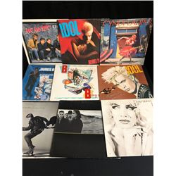 VINYL RECORD LOT (BILLY IDOL, U2, CYNDI LAUPER...)