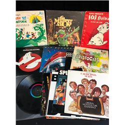 VINYL RECORD LOT (GHOSTBUSTERS/ THE MUPPET SHOW...)