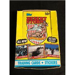 (TOPPS)DESERT STORM TRADING CARDS/ STICKERS HOBBY BOX