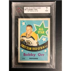 1969-70 O-PEE-CHEE #212 BOBBY ORR 1ST TEAM ALL-STAR (7 NM)