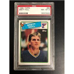 1988 TOPPS #66 BRETT HULL (NM-MT 8)