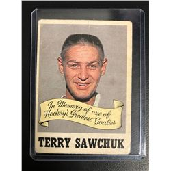 1970-71 O-Pee-Chee Hockey #231 Terry Sawchuk Memorial Card
