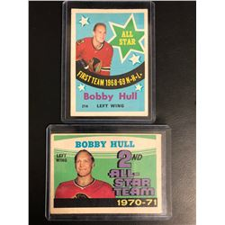 BOBBY HULL ALL-STAR HOCKEY CARD LOT