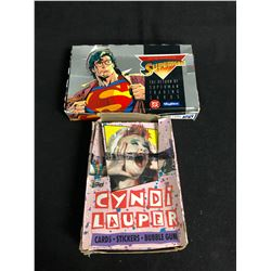 COLLECTORS CARDS HOBBY BOX LOT (THE RETURN OF SUPERMAN/ CYNDI LAUPER)