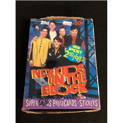 (TOPPS) NEW KIDS ON THE BLOCK SUPER GLOSS PHOT CARDS/ STICKERS HOBBY BOX