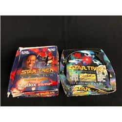 STAR TREK COLLECTOR'S CARDS HOBBY BOX LOT