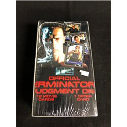 OFFICIAL TERMINATOR 2 TRADING CARDS HOBBY BOX