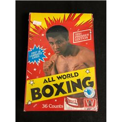 1991 PREMIER EDITION ALL WORLD BOXING COLLECTOR CARDS HOBBY BOX