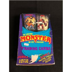 THE ORIGINAL MONSTER IN MY POCKET SERIES 0NE TRADING CARDS HOBBY BOX