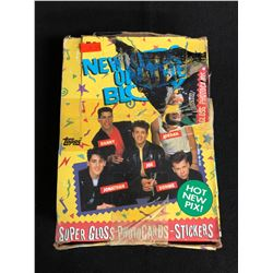 NEW KIDS ON THE BLOCK SUPER GLOSS PHOTO CARDS/ STICKERS HOBBY BOX