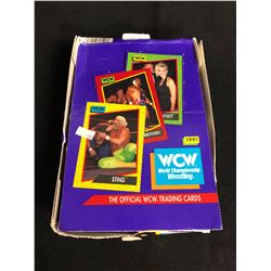 THE OFFICIAL WCW WRESTLING TRADING CARDS HOBBY BOX