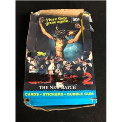 GREMLINS 2 CARDS/ STICKERS/ BUBBLE GUM HOBBY BOX