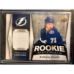 2018-19 ANTHONY CIRELLI Rookie Materials Jersey Card Upper Deck