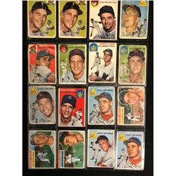 1954 TOPPS BASEBALL CARD LOT