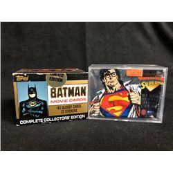 COLLECTOR TRADING CARDS HOBBY BOX LOT (BATMAN/ SUPERMAN)