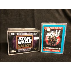 COLLECTORS CARDS HOBBY BOX LOT (STAR WARS GALAXY/ GHOSTBUSTERS II)