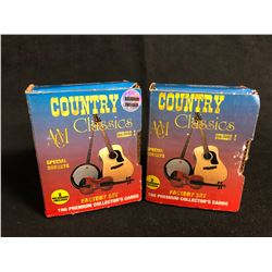 COLLECTOR TRADING CARDS HOBBY BOX LOT (COUNTRY CLASSICS SERIES ONE)