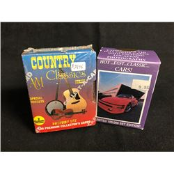 COLLECTOR TRADING CARDS HOBBY BOX LOT (COUNTRY CLASSICS SERIES ONE/ HOT, FAST, CLASSIC CARS)