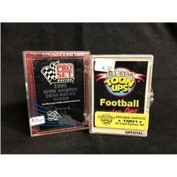 COLLECTOR TRADING CARDS HOBBY BOX LOT (1991 NHRA WINSTON DRAG RACING/ ALL-STAR TOON UPS)
