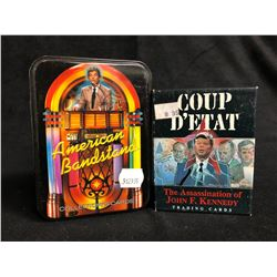 AMERICAN BANDSTAND & COUP D'ETAT COLLECTOR TRADING CARDS BOX LOT