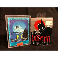 E.T MOVIE PHOTO CARDS & BATMAN PLAYING CARDS