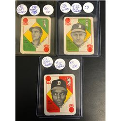 1951 TOPPS BLUEBACK BASEBALL CARD LOT