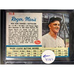 1962 POST US #6 ROGER MARIS (BLANK BACK)