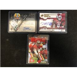 AUTOGRAPHED FOOTBALL CARD LOT