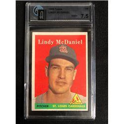 1958 Topps #180 Lindy McDaniel Cardinals Baseball