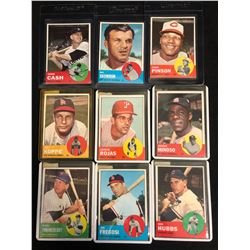 1963 TOPPS BASEBALL CARD LOT