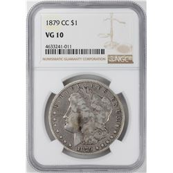 1879-CC $1 Morgan Silver Dollar Coin NGC VG10