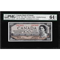 1954 $100 Bank of Canada Note BC-43a PMG Choice Uncirculated 64EPQ