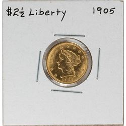 1905 $2 1/2 Liberty Head Quarter Eagle Gold Coin