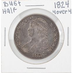 1824 4 Over 4 Capped Bust Half Dollar Coin