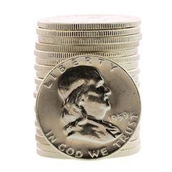 Roll of (20) Brilliant Uncirculated 1959 Franklin Half Dollar Coins