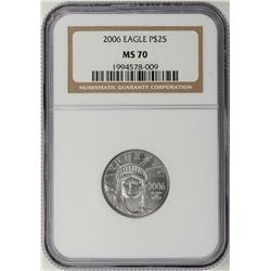 2006 $25 Platinum American Eagle Coin NGC MS70
