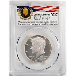 2014-W Kennedy 50th Anniversary Enhanced Silver Half Dollar Coin PCGS MS70