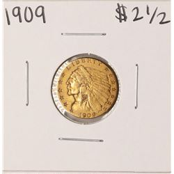 1909 $2 1/2 Indian Head Quarter Eagle Gold Coin
