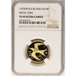 1975FM B.V. Island $100 Royal Tern Gold Coin NGC PF69 Ultra Cameo