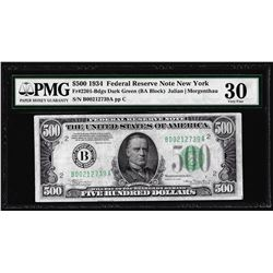 1934 $500 Federal Reserve Note New York Fr.2201-B PMG Very Fine 30