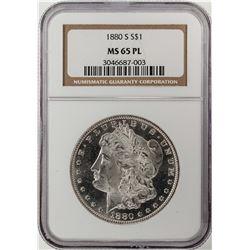 1880-S $1 Morgan Silver Dollar Coin NGC MS65 PL