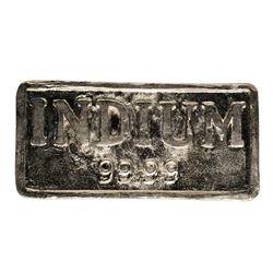 1.034 Kilogram 99.99% Indium Metal Bar