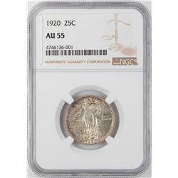1920 Standing Liberty Quarter Coin NGC AU55