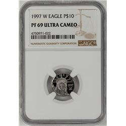 1997-W $10 Proof Platinum American Eagle Coin NGC PF69 Ultra Cameo