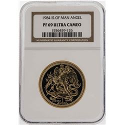 1984 Isle of Man Angel Gold Coin NGC PF69 Ultra Cameo