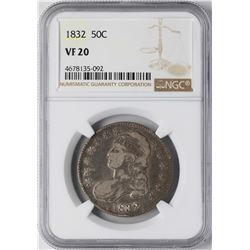 1832 Capped Bust Half Dollar Coin NGC VF20