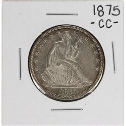 1875-CC Seated Liberty Half Dollar Coin