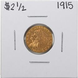 1915 $2 1/2 Indian Head Quarter Eagle Gold Coin